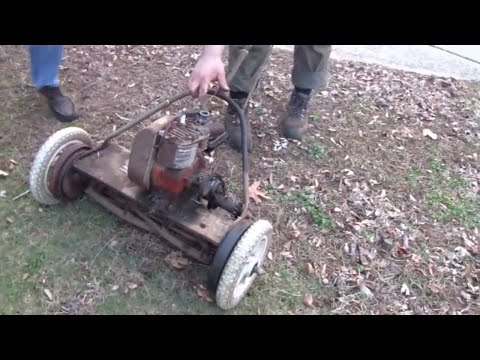 RARE ANTIQUE MOTO-MOWER REPAIR
