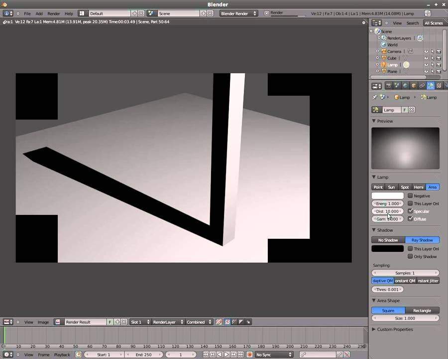 Soft Shadows with Blender 3D v2.5 - YouTube