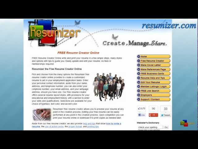 resume creator video resumizer - Free Resume Creator