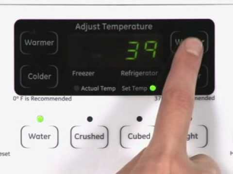 Adjusting Side Byside Refrigerator Temp Controls Actual