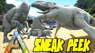 ARK Survival Evolved - Mosasaurus, Therizinosaurus, Dimetrodon Gameplay w/ Mau5Craft