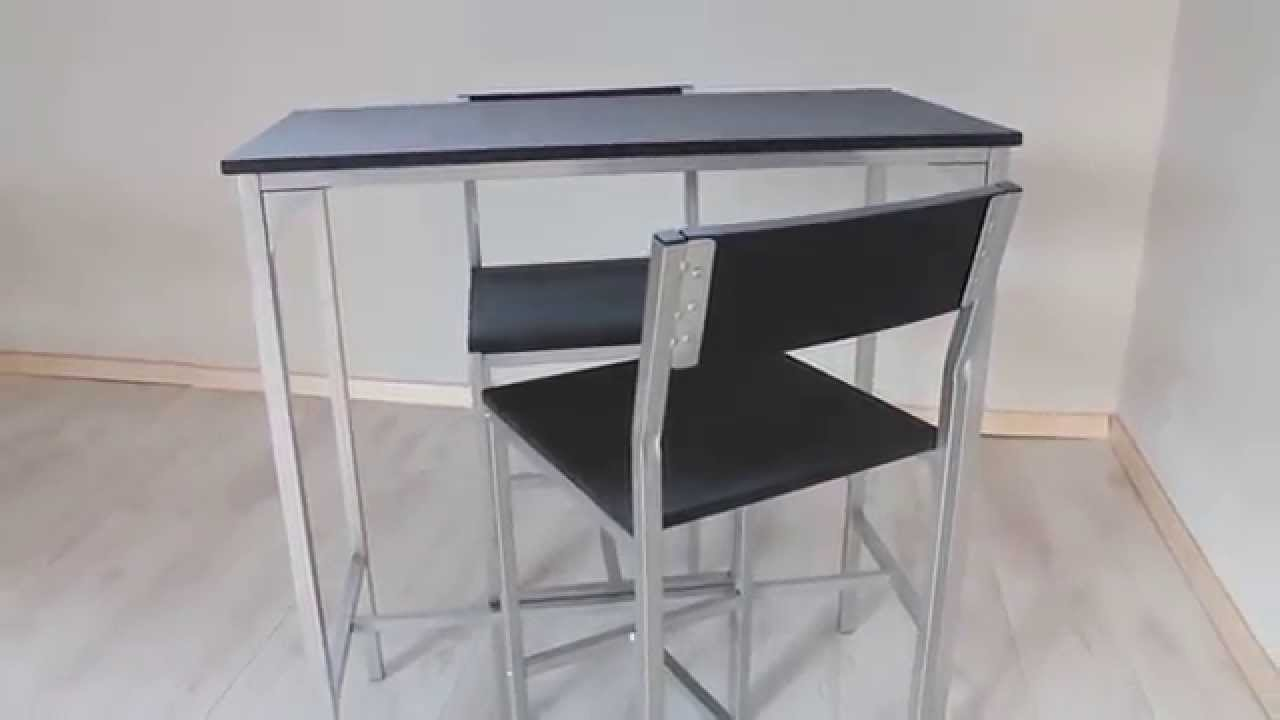 Set tavolo bar con 2 sgabelli mod. rimini di yelloo youtube