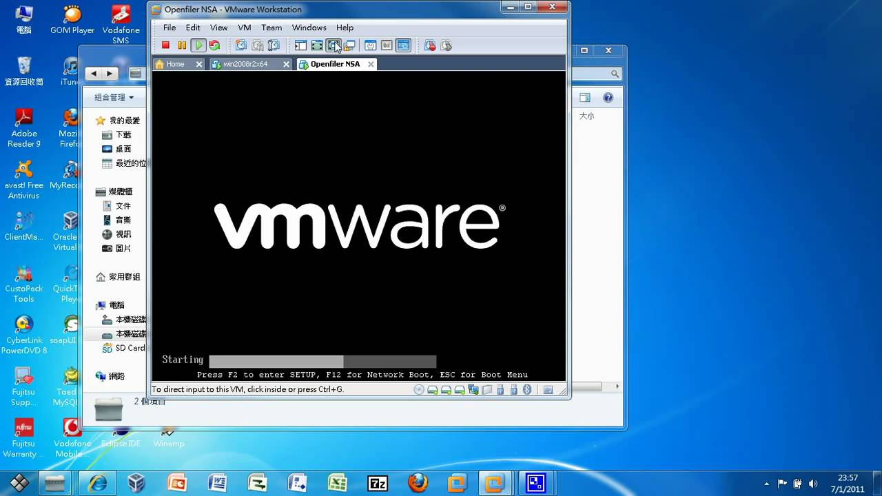 VM Part 5 - Installing Openfiler to Simulate a SAN Storage