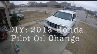 DIY   2013 Honda Pilot Oil Change