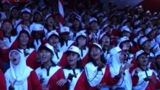Wa'ronjengan. Lagu Daerah Madura. Aubade 1000 pelajar SMA Surabaya. Hut RI ke 68