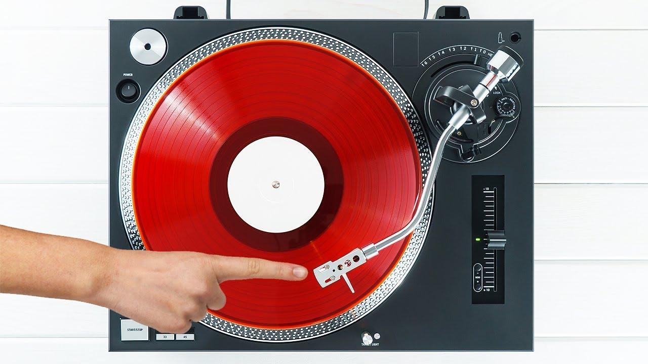 vinyl record player Pioneer  -screen printed T-SHIRT Audio-Technica turntable
