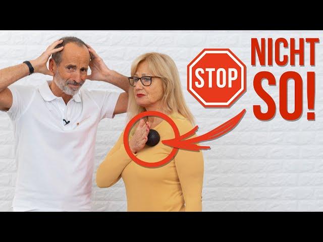 Stop! 🛑 Vermeide diese 2 Fehler beim Faszienrollen unbedingt!