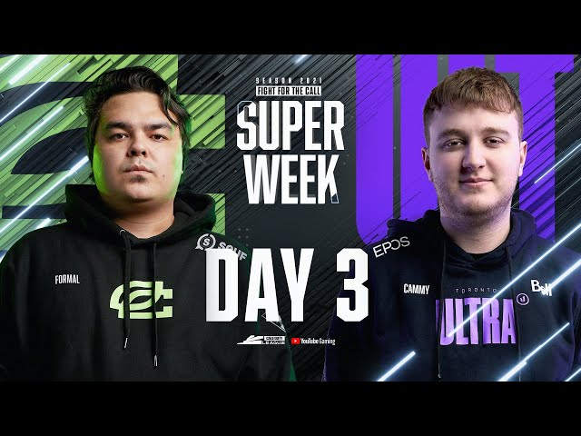 Call Of Duty League 2021 Season | Stage I Super Week | Day 3