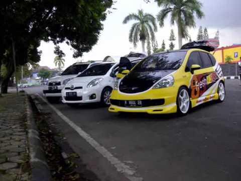 Yellow Honda Jazz