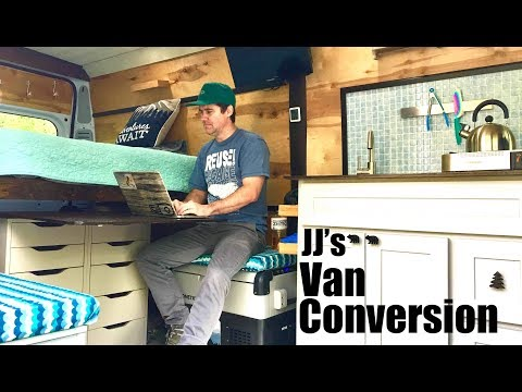 Snowboarder turns to Building Custom Tiny House Van Conversions