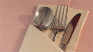 Repeat youtube video How To Do Paper Napkin Folding