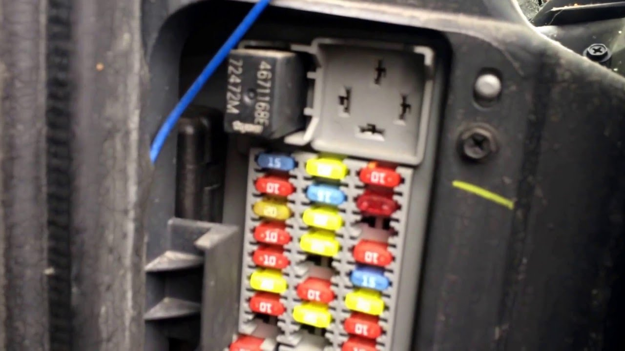 Jeep liberty fuse box location youtube