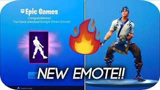 How To Get The New Boogie Down Emote On Fortnite Battle Royale!! (2FA)😁