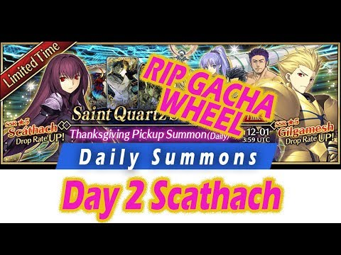 [FGO] Day 2 Scathach Shishou - Daily Summons Season 4! - Fate Grand Order