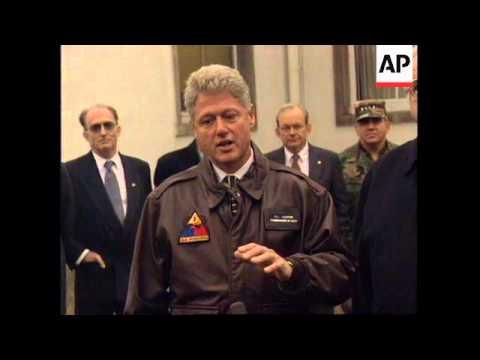 GERMANY: US PRESIDENT CLINTON AND HELMUT KOHL TALKS