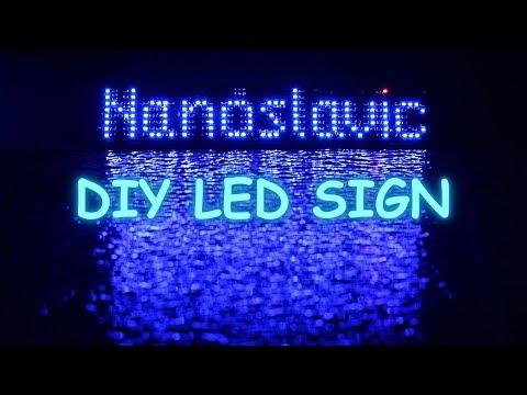 DIY Animated LED Sign Nanoslavic