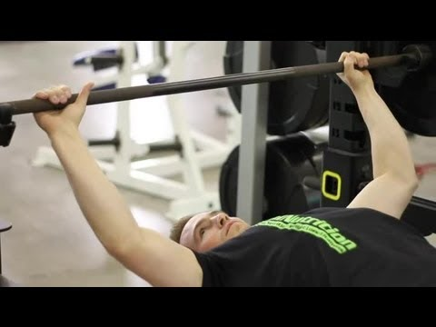 The Hand Placement for a Bench Press on an Olympic Bar : Weightlifting Techniques