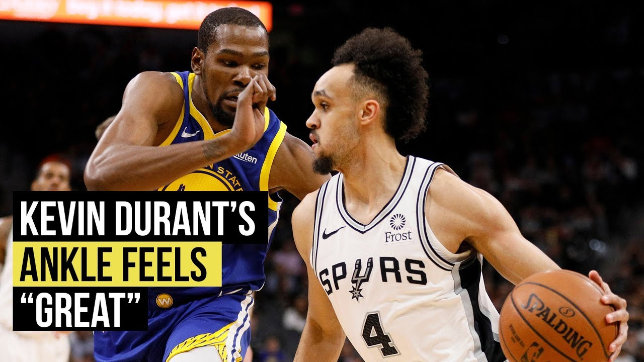 """Warriors' Kevin Durant says ankle feels """"great"""""""