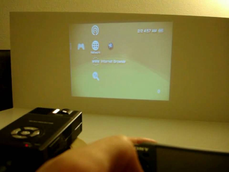 Aaxatech Pico Projector Applied To Sony PSP 3000