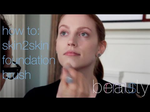 How To Flawlessly Apply Foundation with RMS Beauty's Skin2Skin Foundation Brush
