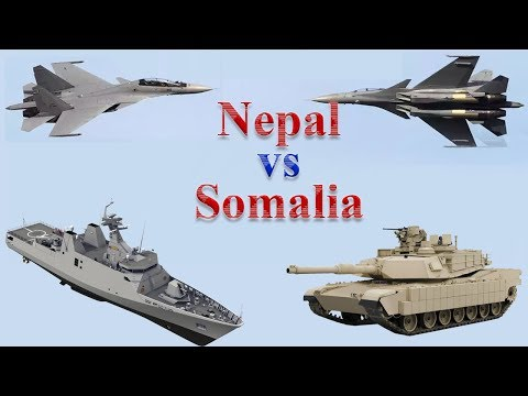 Nepal vs Somalia Military Comparison 2017