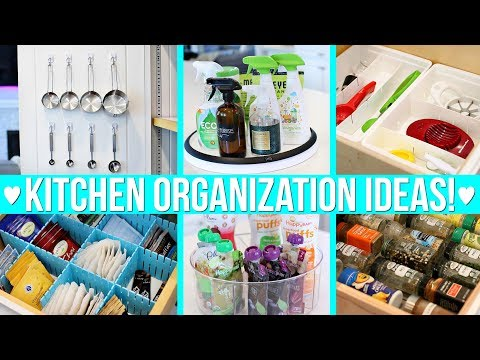 KITCHEN ORGANIZATION IDEAS!