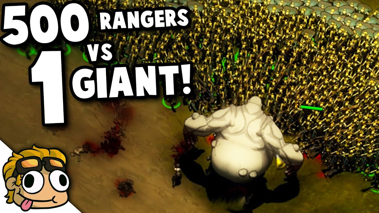 500 RANGERS vs 1 GIANT! | They Are Billions New Update 0 9 Gameplay