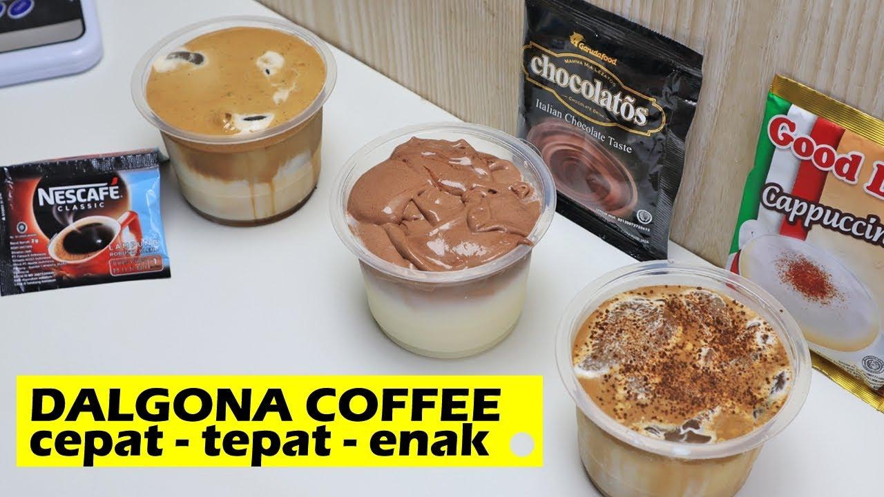 CARA CEPAT MEMBUAT DALGONA COFFEE 3 RASA - NESCAFEE ...