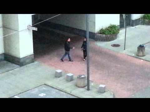 Asian Couple Fighting (Bashing His Girlfriend Up)