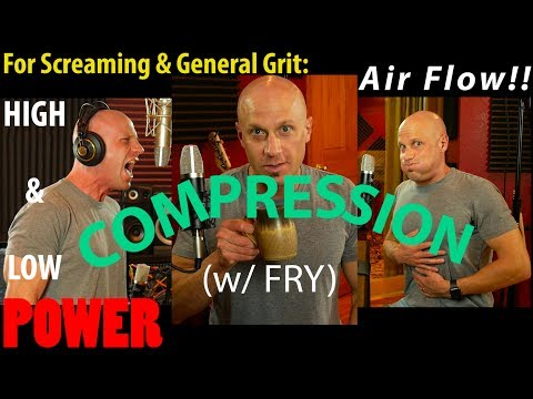 How to Use Vocal Compression, Air Flow & Fry for Maximum Tone & Intensity (no pain or fatigue req'd)