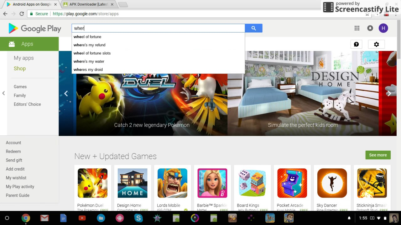 how to get games on acer chromebook 11 off of google play store