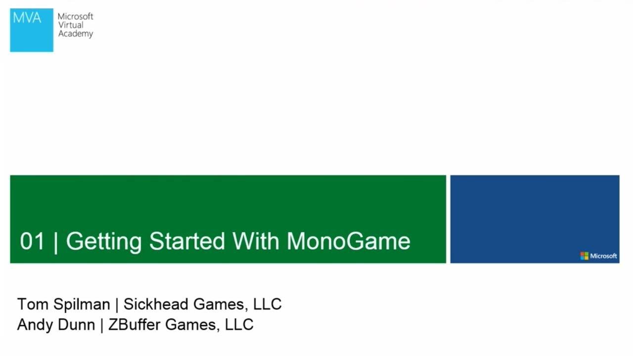Mva Getting Started With Monogame Youtube