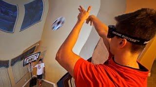 DIZZY GOGGLE MINI HOOP BASKETBALL CHALLENGE W/ JESSER & KRIS