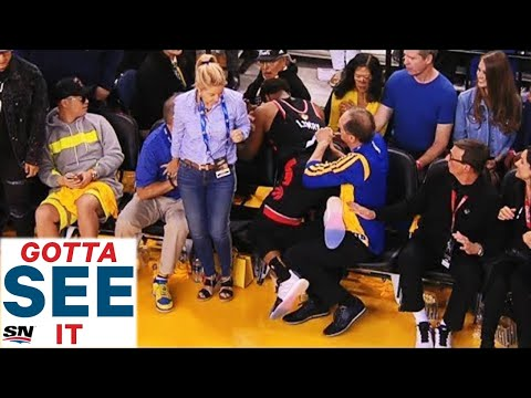D-Wayne Chavez - Fan ejected after shoving Raptor's player in game 3 of the NBA Finals!