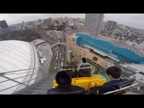 Thunder Dolphin Roller Coaster Tokyo Dome City Outlaw Gopro