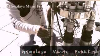 installion of interactive fountain Himalaya Music Fountain