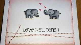 Love you Tons card with Lawn Fawn & Spectrum Noirs