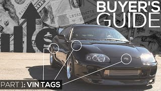 Toyota Supra Buyers Guide: Part 1 - How to know if it's Turbo by Just Reading Vin Tags (93-98)