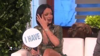 RIHANNA on the Ellen Show w/ CLOONEY