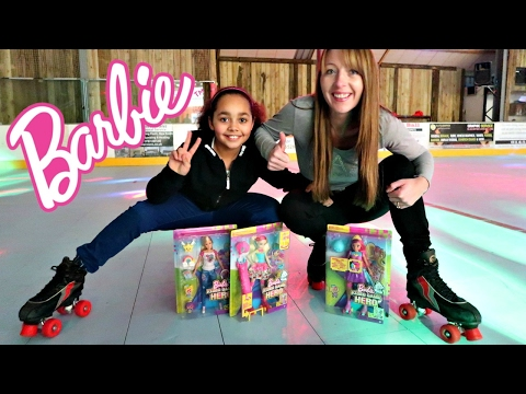 Thumbnail: Barbie Video Game Hero Movie Dolls Surprise Toy Opening - Roller Skating Funny Fails