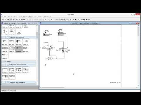 Automation of Multiple Cylinder in Sequence A+B+A B  in PLC using FluidSIM