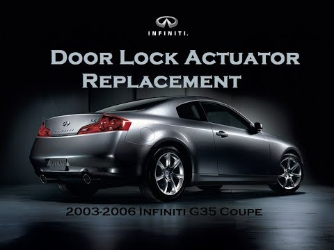 B 35 03 07 Infiniti G35 Coupe Left Driver Door Lock Latch Actuator Oem Ebay