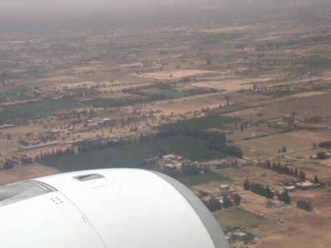 Preparing to land in Tripoli, Libya