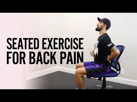 How to FIX Low BACK PAIN from Sitting with a seated exercise from YouTube · Duration:  5 minutes 16 seconds
