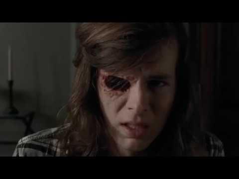 Download The Walking Dead - Carl shows Negan his eye.