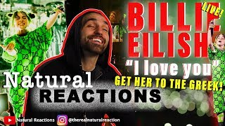 Billie Eilish - i love you (Live At The Greek Theatre) REACTION