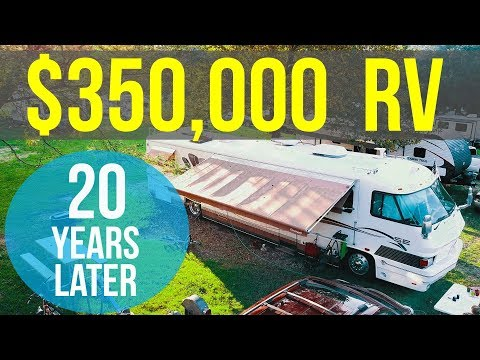 "TOUR OF OUR 20 YEAR OLD ""LUXURY"" RV - Family of 7 living in FORETRAVEL Motorhome with NO SLIDES!!!"