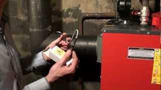 DEFRO Optima Komfort Plus. Подключение котла. Часть 2.(Подключение датчика дымовых газов. Подключение питания котла. Подготовка к запуску котла., 2012-06-26T11:19:18.000Z)