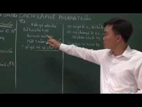 Toán 9 Giải bài toán bằng cách lập hệ phương trình P1 http://mclass.vn/thaydoquangkhuong]