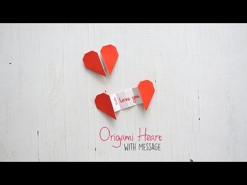 Origami Heart with  Message
